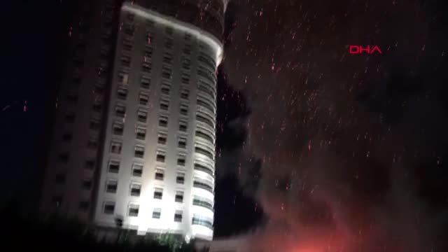 Konya'da Otel Yangını Lüks Otelin Bahçesinde Yangın!