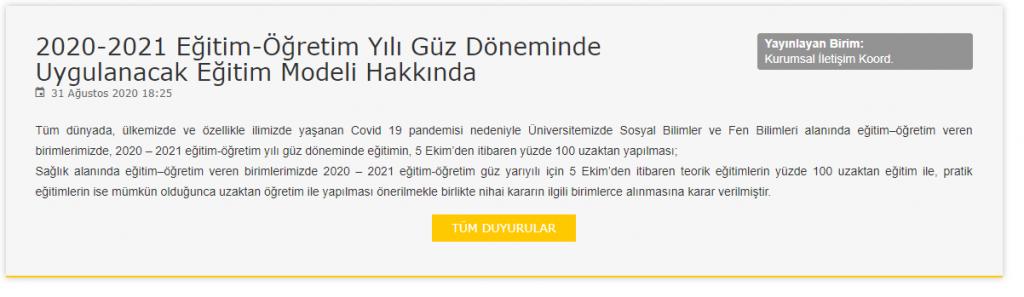 Selçuk Üniversitesi Uzaktan Eğitim Kararı Aldı Resmi Sitede Yayınladı!