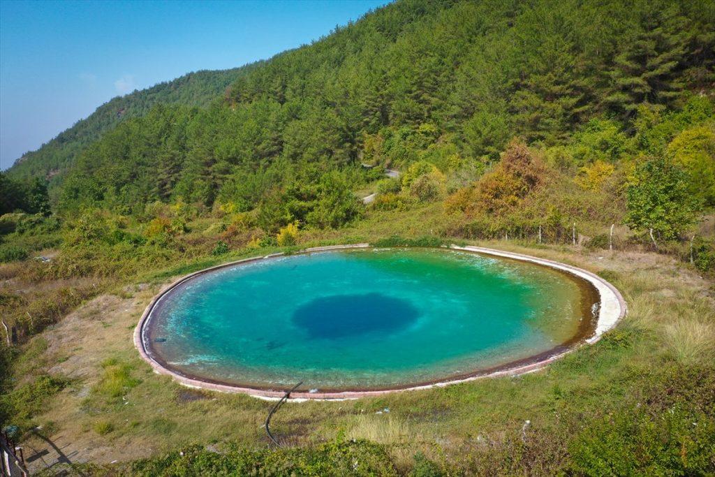 Amanos Dağları Nazar Boncuğu Görünümlü Yangın Göleti